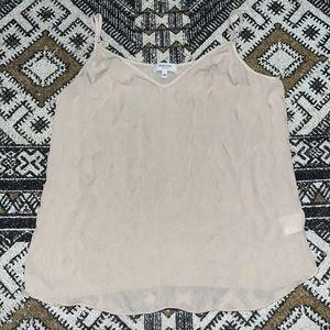 Babaton 100% silk tank top beige size small